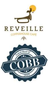 Mythos Media Websites - Reveille Cafe, Logo w Best of Cobb 2019