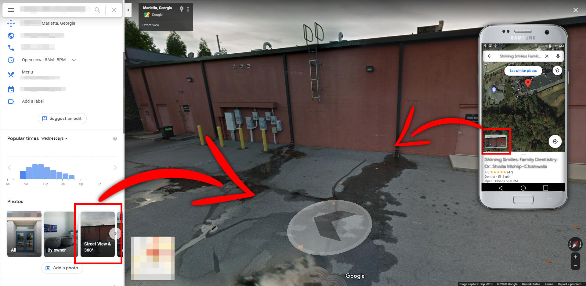 Mythos Media Virtual Tours - How To Check Your Street View - Enter Street View 1