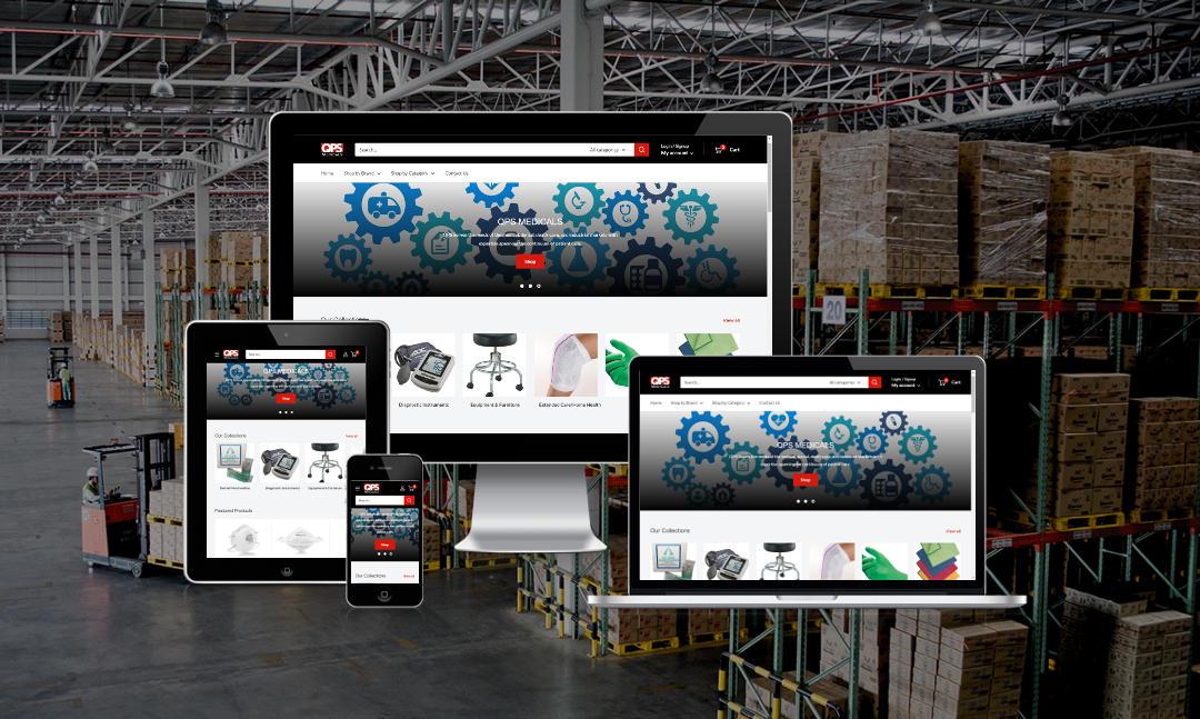 Mythos Media Website - QPS Medicals, Shopify ECommerce for PPE and Medical Supplies