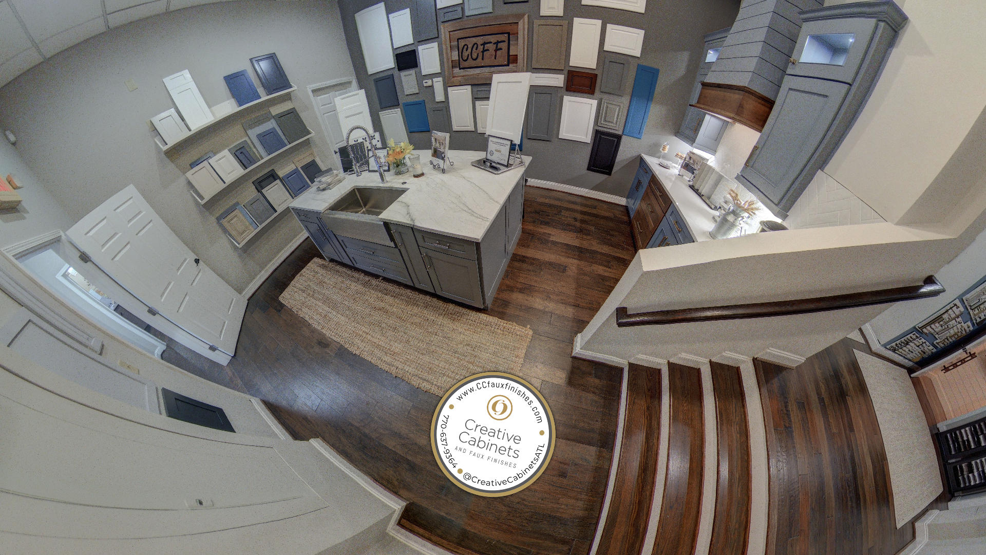 Mythos Media Virtual Business Tours - Creative Cabinets and Faux Finishes, Custom Logo Design