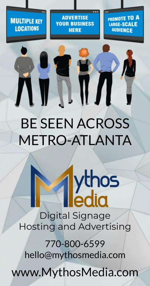 Mythos Media Digital Signage, Local Business Ad - Mythos 1