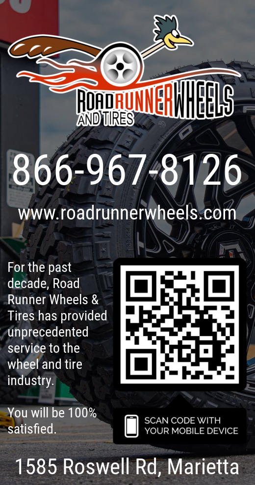 Mythos Media Digital Signage, Local Business Ad - Roadrunner Wheels