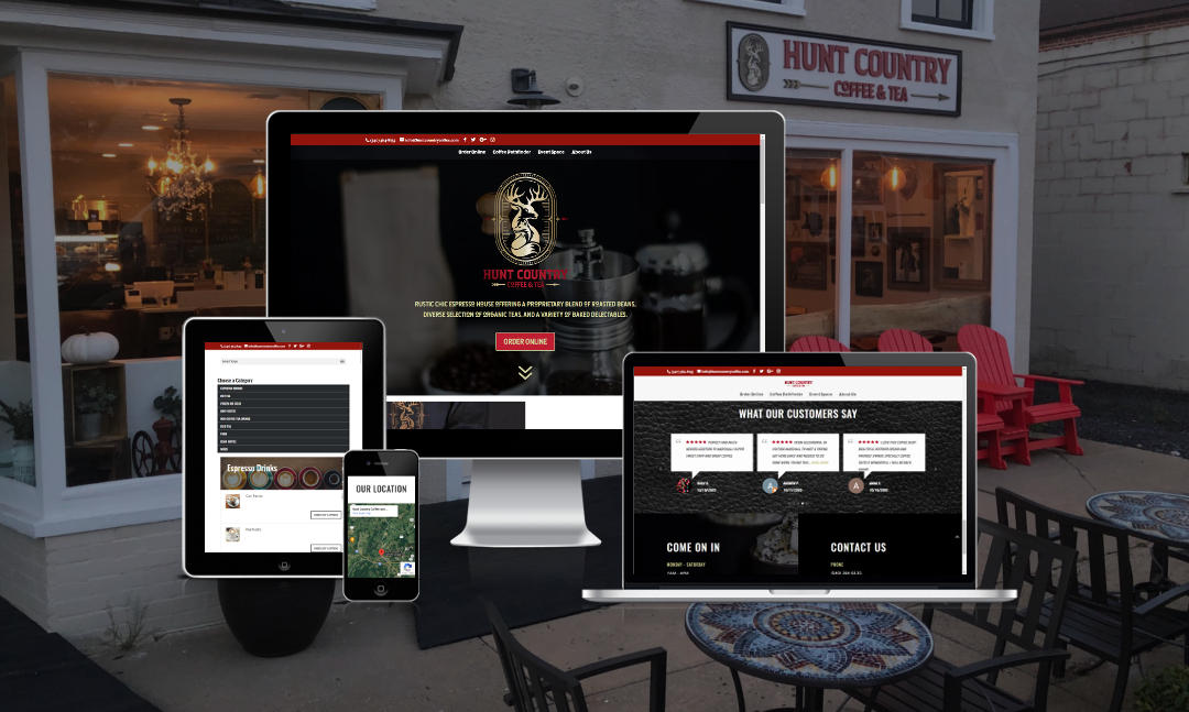 Mythos Media Website - Hunt Country Coffee and Tea, Marshall Virginia