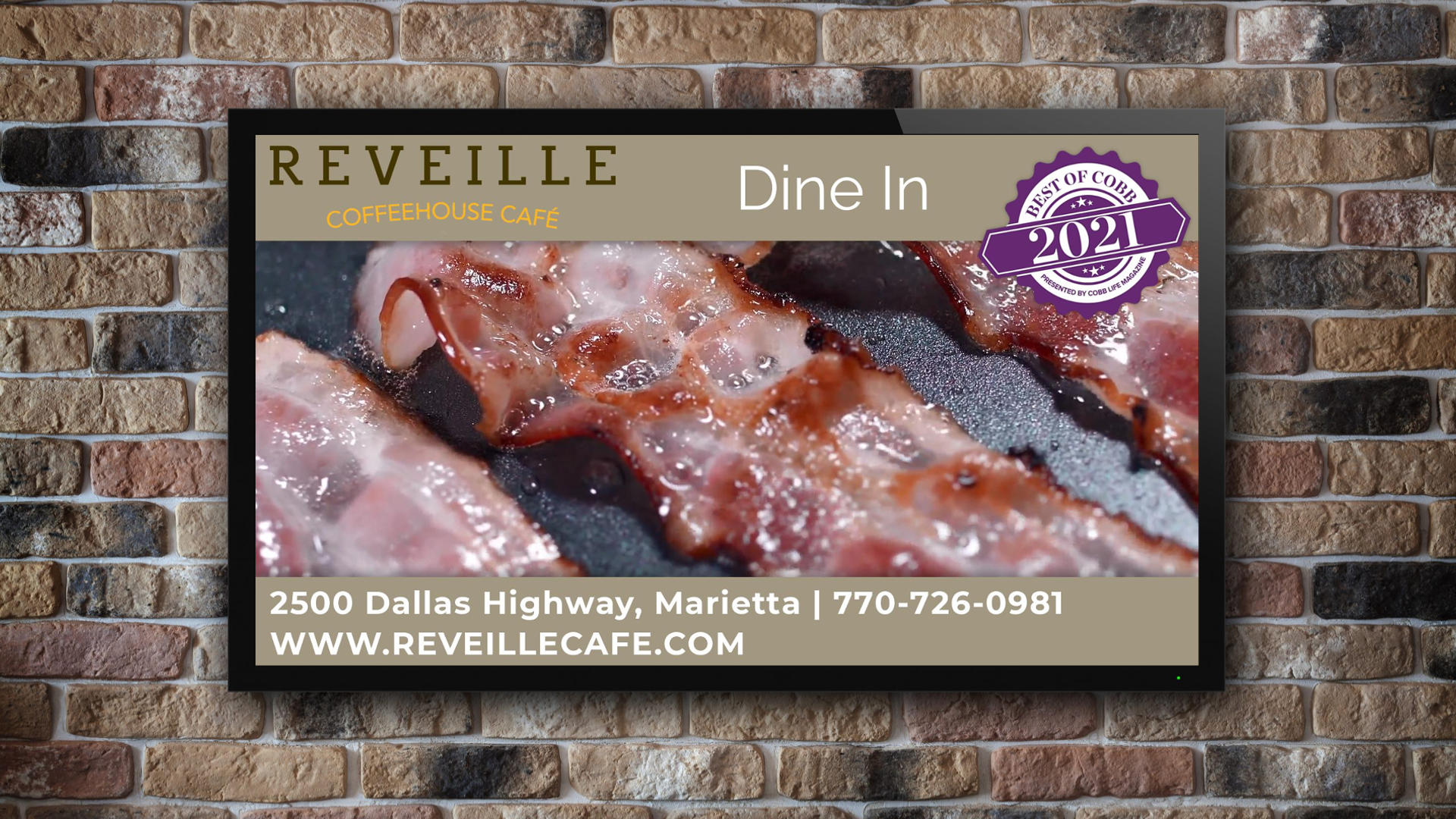 Reveille Cafe West Cobb - Digital Signage Video Ads