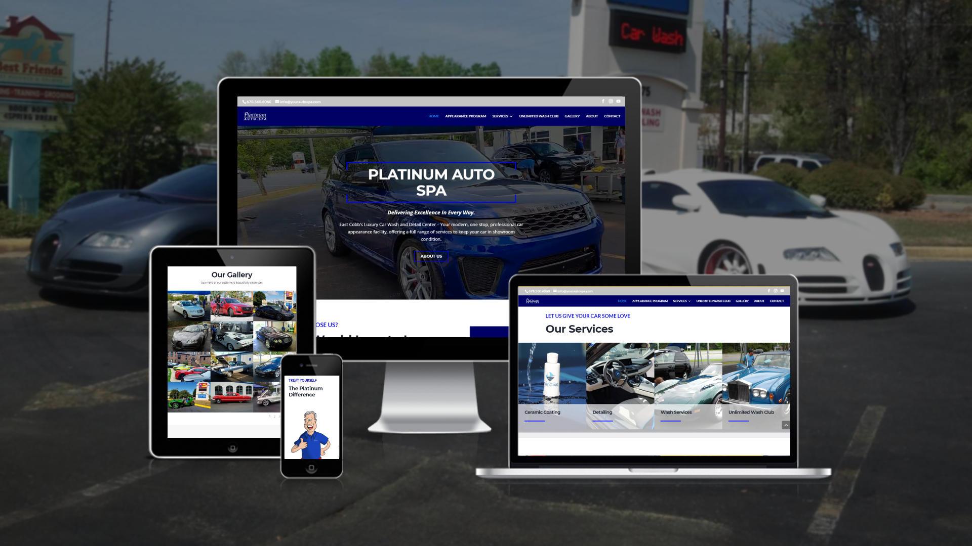 New Website for Platinum Auto Spa